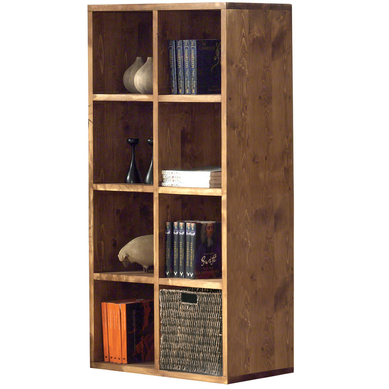 une tag re cube 8 cases en bois massif toute preuve. Black Bedroom Furniture Sets. Home Design Ideas