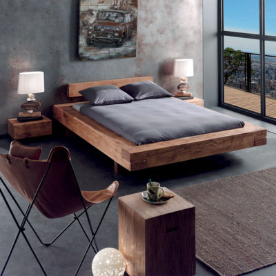 d couvrez nos lits 2 places en bois massif inspiration. Black Bedroom Furniture Sets. Home Design Ideas