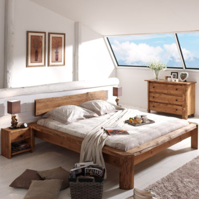 d couvrez nos lits 2 places en bois massif inspiration nordique. Black Bedroom Furniture Sets. Home Design Ideas