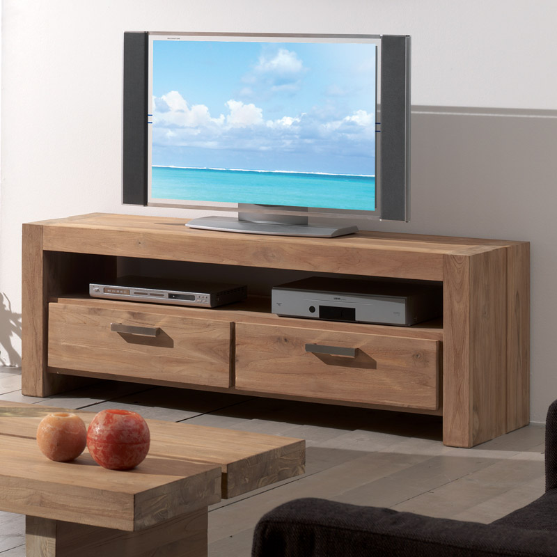 meuble tv mahina essence de teck au style pur. Black Bedroom Furniture Sets. Home Design Ideas