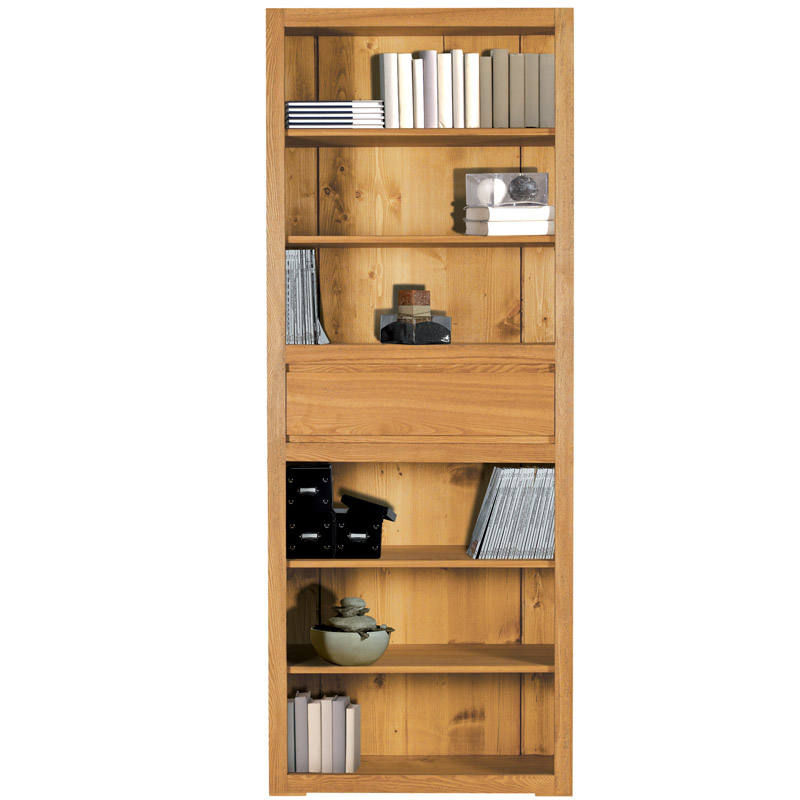 lignes pures pour la biblioth que en bois massif hartford. Black Bedroom Furniture Sets. Home Design Ideas