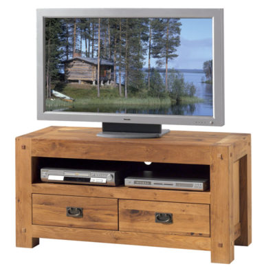 meubles tv en bois massif en teck au design scandinave. Black Bedroom Furniture Sets. Home Design Ideas
