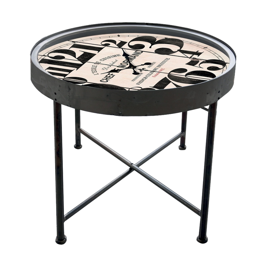 horloge table basse retro cocktail scandinave. Black Bedroom Furniture Sets. Home Design Ideas