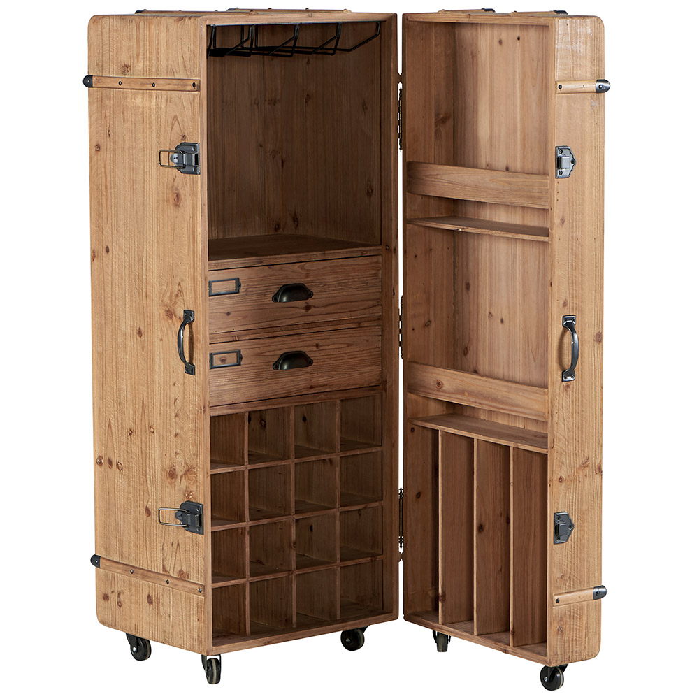 armoire bar wellwood un bar d 39 inspiration malles cabines. Black Bedroom Furniture Sets. Home Design Ideas
