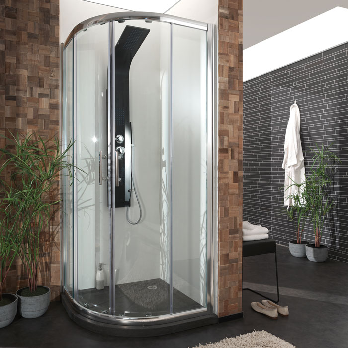 cabine de douche pour receveur de douche en angle 90. Black Bedroom Furniture Sets. Home Design Ideas