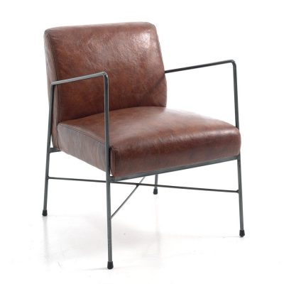 Fauteuil cuir NORSK