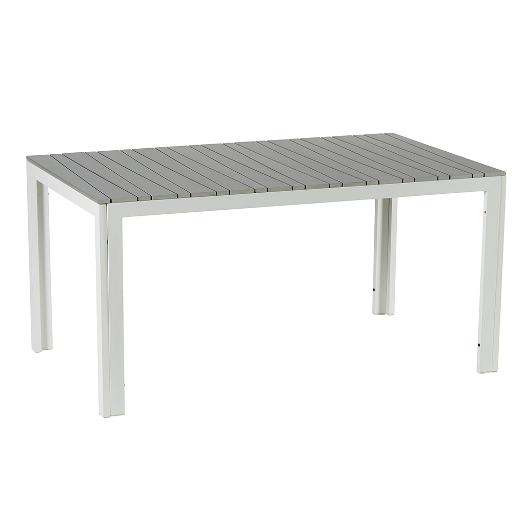 la puret du blanc avec cette table rectangualire de jardin matai. Black Bedroom Furniture Sets. Home Design Ideas