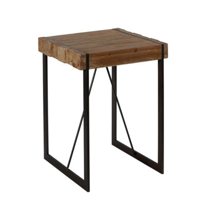 tabouret haut fabrik en bois massif design industrielle. Black Bedroom Furniture Sets. Home Design Ideas