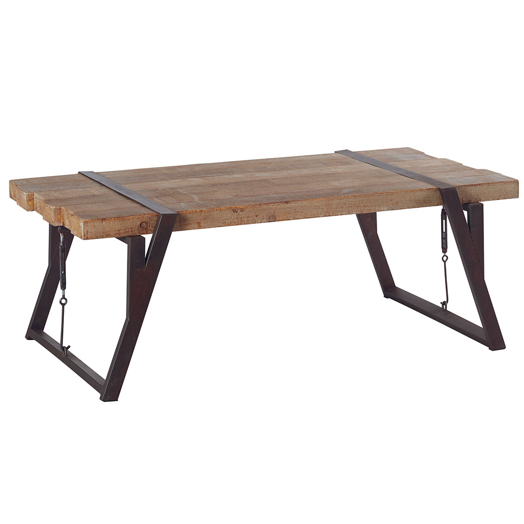 Table Basse Bois Vieilli.Table Basse Westmount