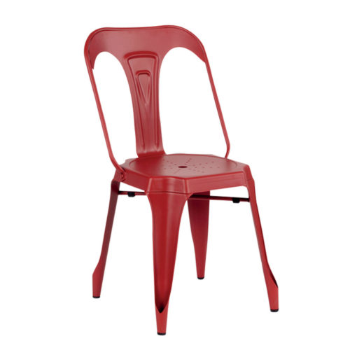 Chaise rouge MACKAY