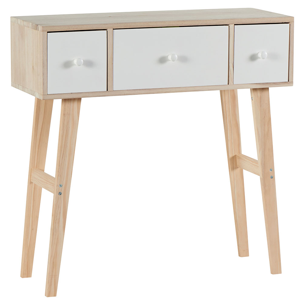 console oslo le design scandinave en bois blanc. Black Bedroom Furniture Sets. Home Design Ideas