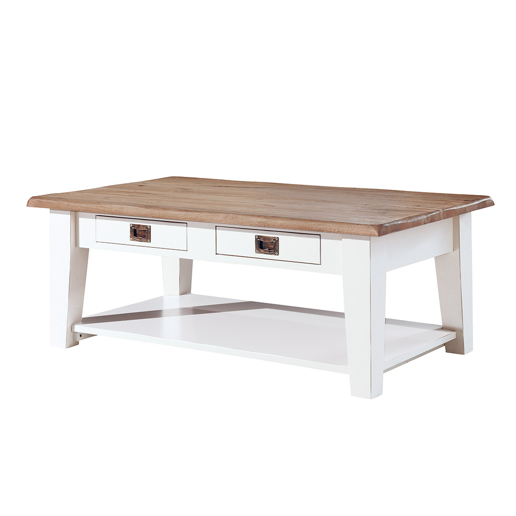 table basse rectangulaire en bois laqu blanc chic et tendance. Black Bedroom Furniture Sets. Home Design Ideas