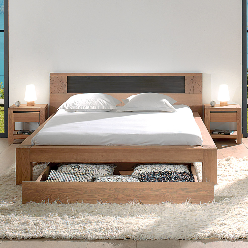 lit 2 places woody cocktail scandinave. Black Bedroom Furniture Sets. Home Design Ideas