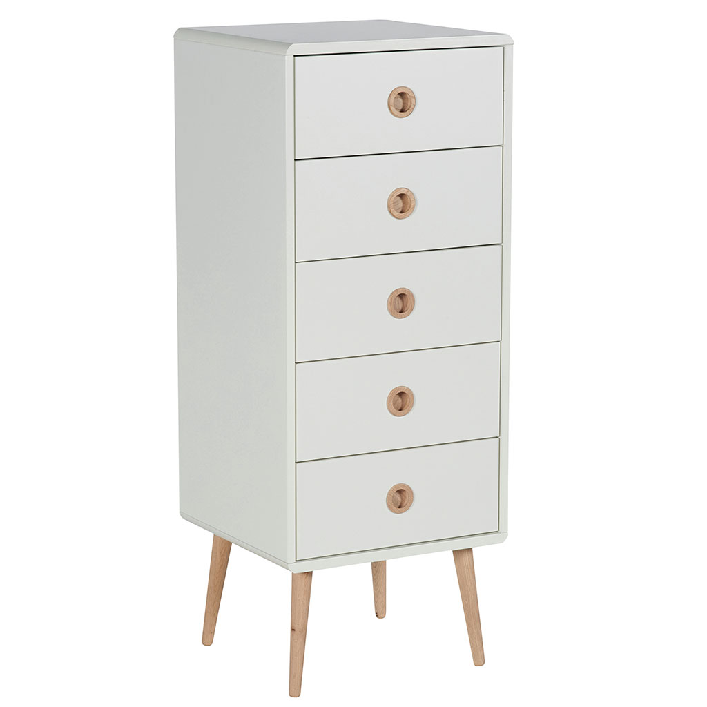 chiffonnier au style nordique en bois naturel et blanc. Black Bedroom Furniture Sets. Home Design Ideas
