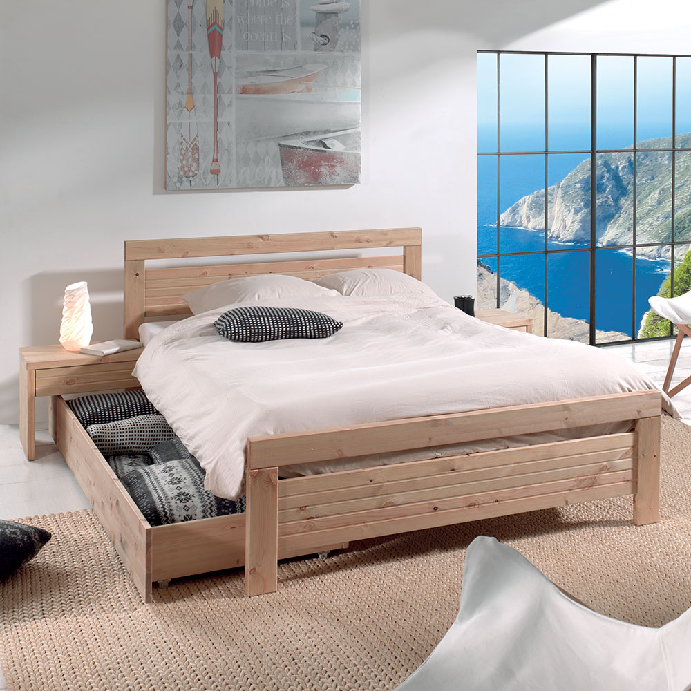 lit 2 places zermat en pin massif lasur miel petit prix. Black Bedroom Furniture Sets. Home Design Ideas