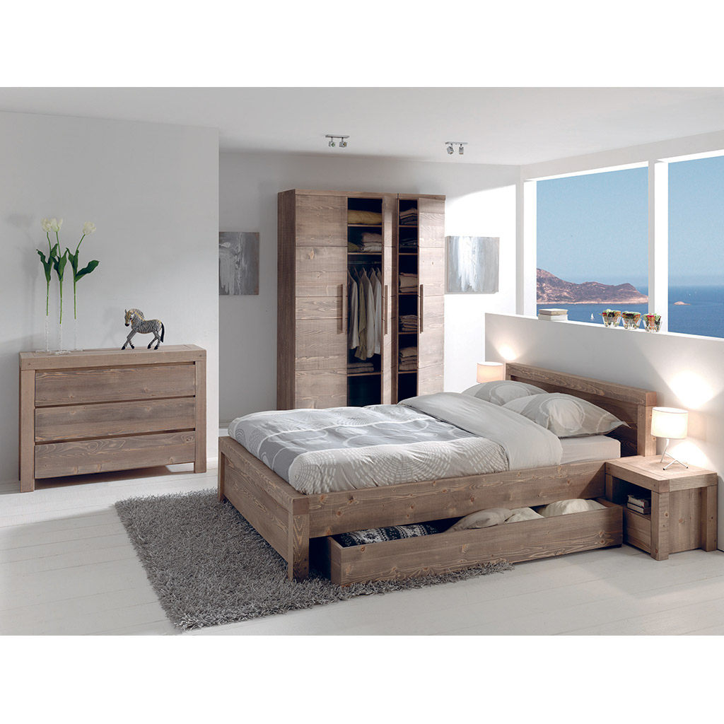 tiroir lit sanders cocktail scandinave. Black Bedroom Furniture Sets. Home Design Ideas