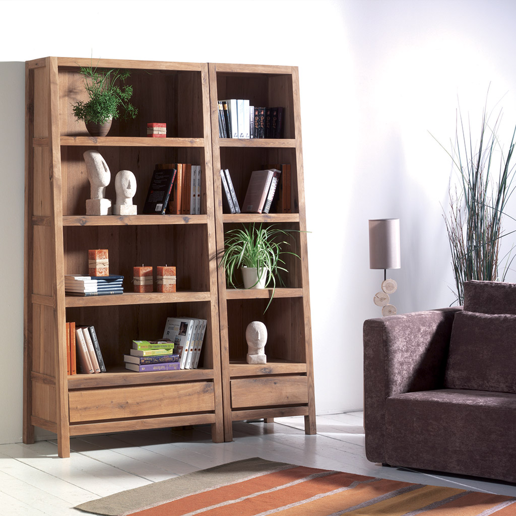 biblioth que trap ze en bois massif ind modable et plein de cachet. Black Bedroom Furniture Sets. Home Design Ideas