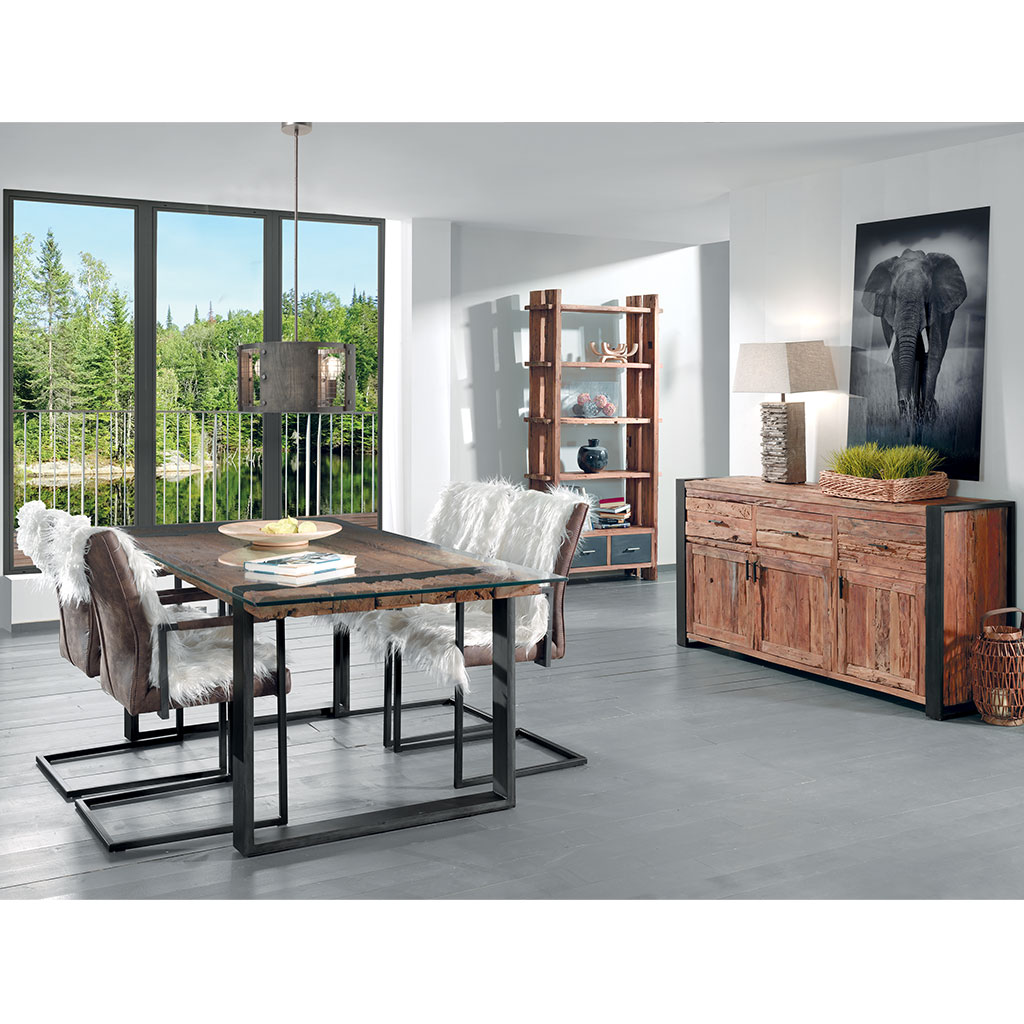 etag re en teck recycl vancouver au style ferroviaire vintage. Black Bedroom Furniture Sets. Home Design Ideas