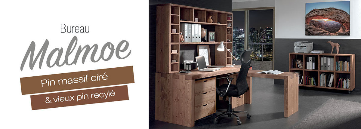 des meubles toute preuve la collection malmoe en pin massif. Black Bedroom Furniture Sets. Home Design Ideas