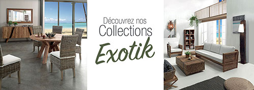 Collection mobilier exotique