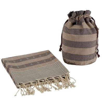 Set fouta et sac marron