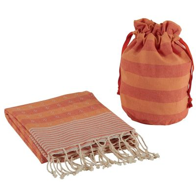 Set fouta et sac orange