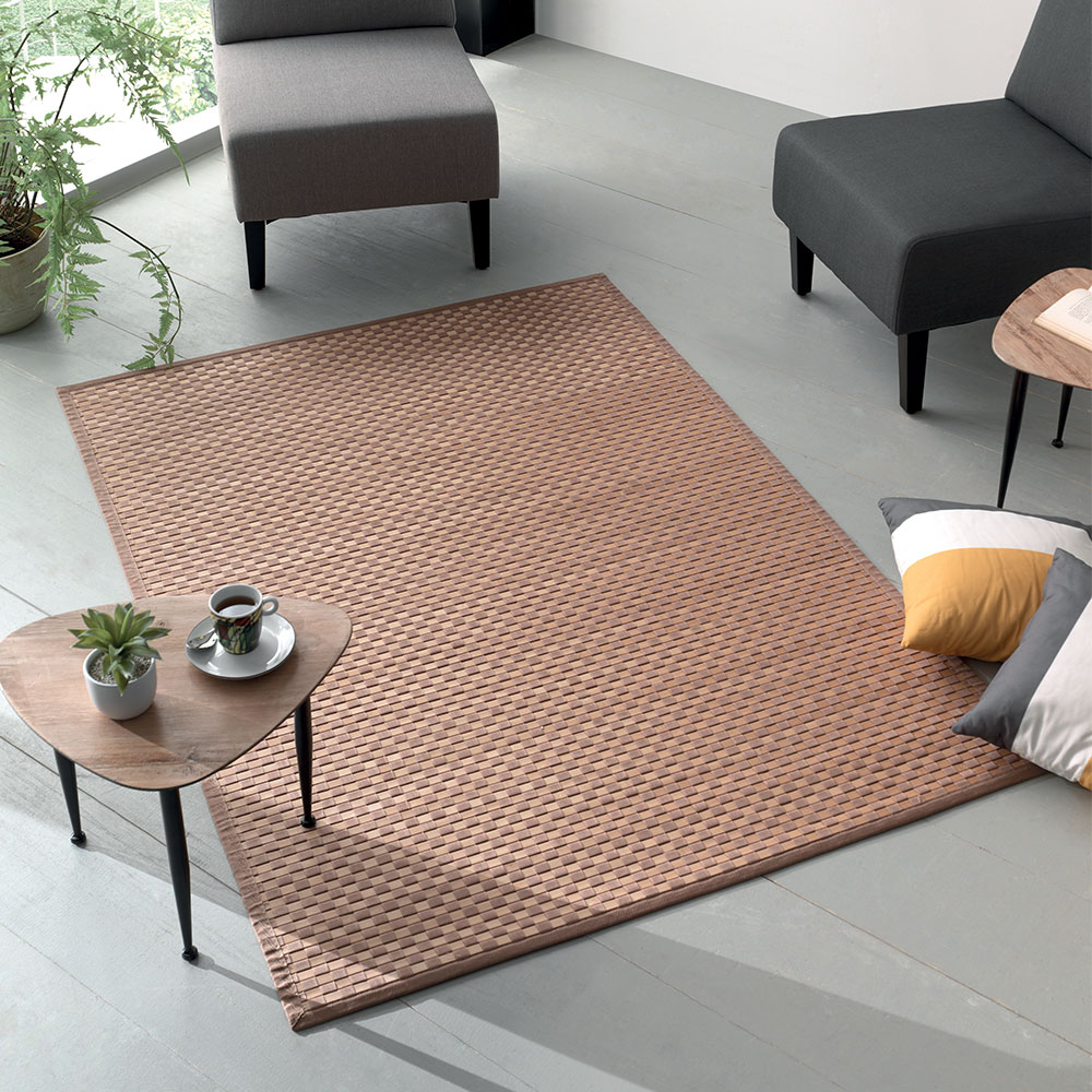 tapis de sol marron damier petit prix. Black Bedroom Furniture Sets. Home Design Ideas