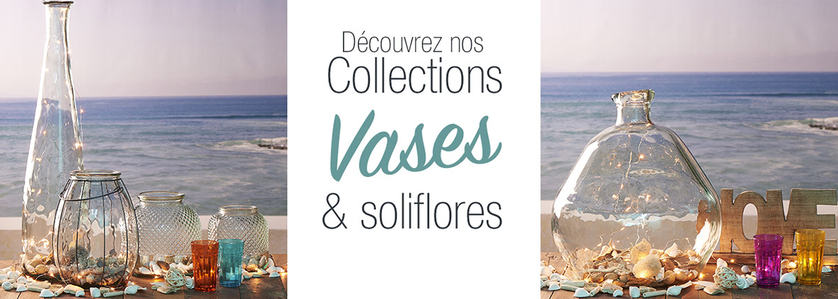 Collection vases et soliflores