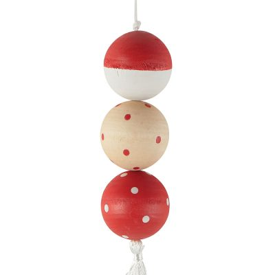 Suspension boule en bois
