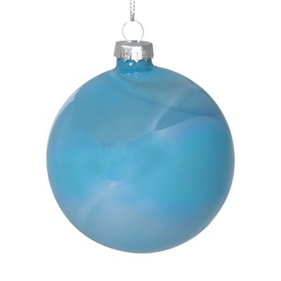 Suspension boule bleue