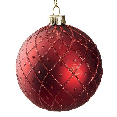Suspension boule rouge