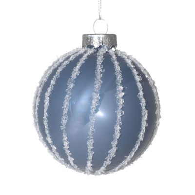 Suspension boule bleu