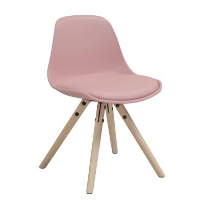 Chaise WOODY junior coloris rose