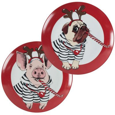 Set de 4 assiettes FUNNY ANIMALS
