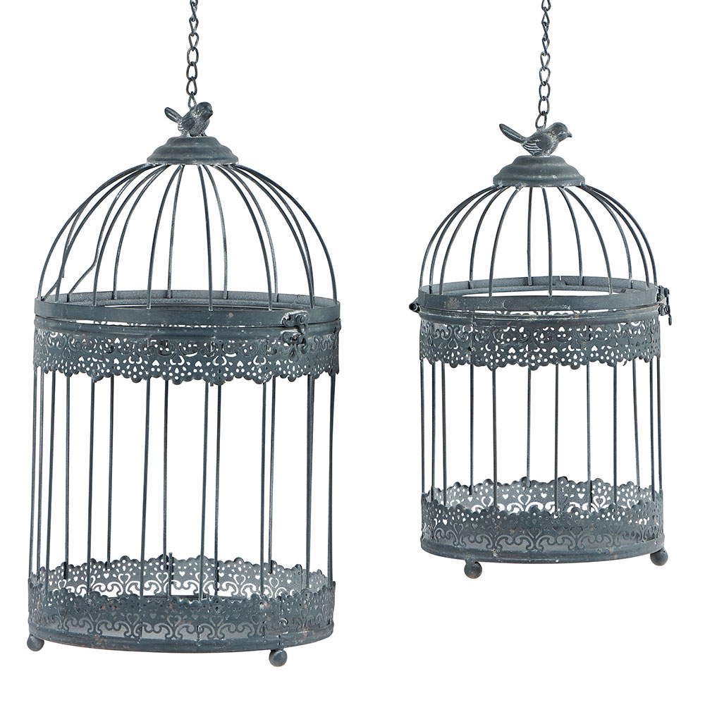 cage oiseaux deco m tal vieilli suspendre au design baroque petit prix. Black Bedroom Furniture Sets. Home Design Ideas