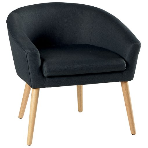 Fauteuil anthracite ERNEST
