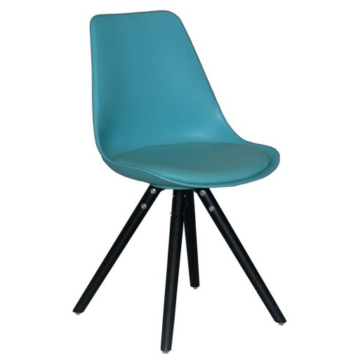Chaise WOODY bleu turquoise