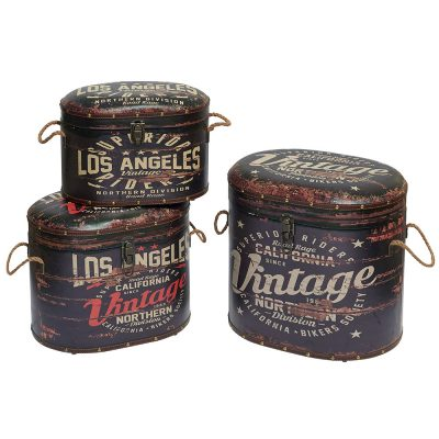Poufs coffre vintage Los Angeles