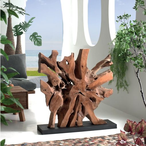 Sculpture NATURE en teck
