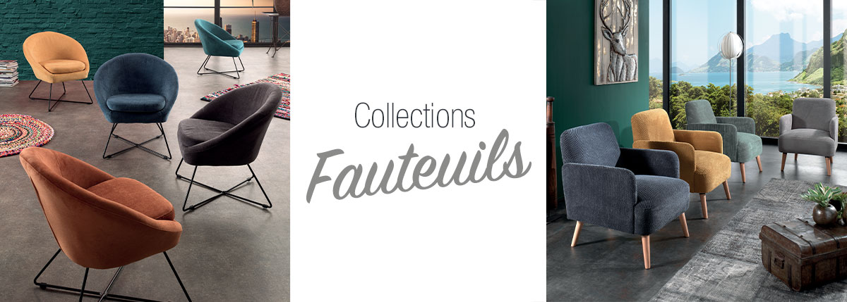 Fauteuils tissus & cuirs
