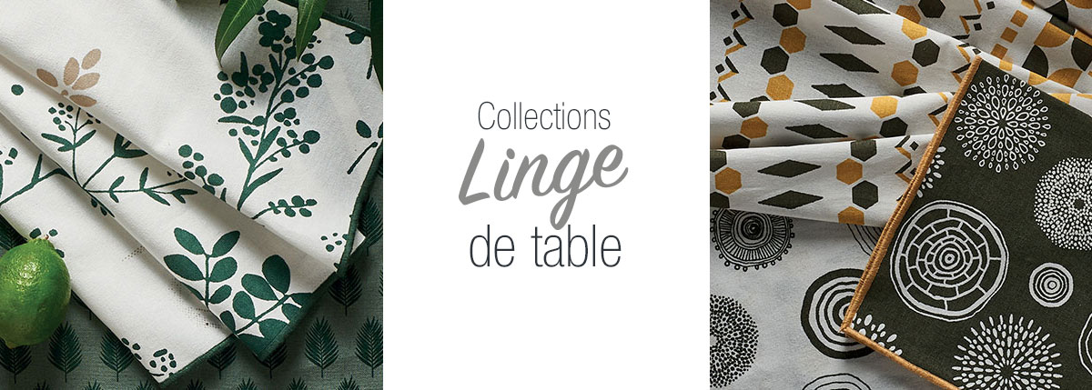 Collections Linge de table
